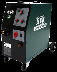 Schutzgasschweißgerät 250-4 D mit 4-Rollen Drahtvorschub