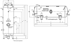Druckluftbehälter verzinkt, 750 ltr., 11 bar