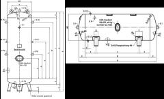 Druckluftbehälter 750 ltr., 16 bar, grundiert