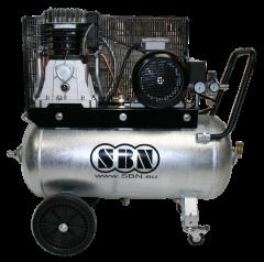 Kompressor 600/10/2/90V D, fahrbar mit verzinktem Behälter