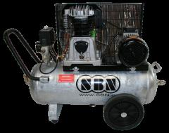 Kompressor 400/10/2/50V D, fahrbar mit verzinktem Behälter