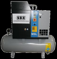 Schraubenkompressor MSL5,5/10 mit 200 l Behälter und