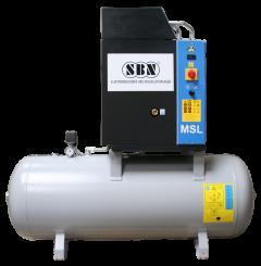 Schraubenkompressor MSL4/10 mit 200 l Behälter