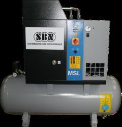 Schraubenkompressor MSL4/10 mit 200 l Behälter und