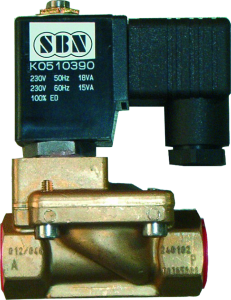 Elektromagnetventil stromlos geöffnet 230 Volt AC