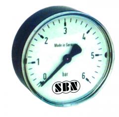 """Manometer 40 mm, 0-6 bar Anschluss 1/4"""" hinten"""
