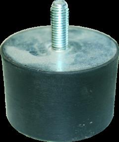 Gummischwingelement M 8 x 23 Durchm. 40 mm, Höhe 30 mm 1xAG
