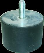 Gummischwingelement M 10 x 27 Durchm. 70 mm, Höhe 45 mm,1xAG